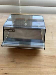 Rolodex Petite S 3000 Mini Address Phone Business Card File Box With Cards
