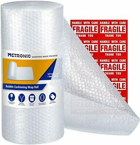 Lot Of 2 Bubble Cushioning Wrap Roll Perforated Shipping Supply Multiple Sizes