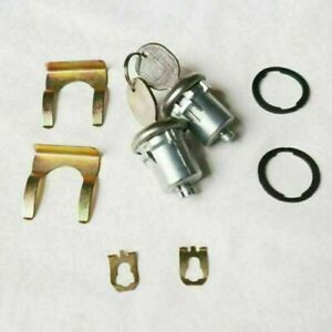 1 Pair Door Lock Cylinder With Key For Chevrolet Gmc Buick Cadillac Pontiac