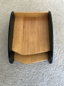 Brown black 2 tier Wood Executive Paper Letter Desk Trays