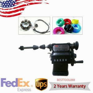 Electric Coil Counting Machine Manual Hand Dual Purpose Winder Work Tool Usa