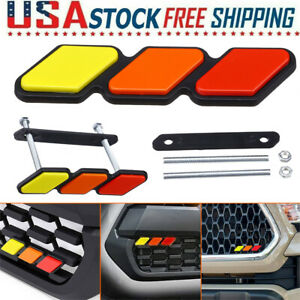 1pc For Toyota Tacoma 4runner Tundra Tri Color 3 Front Grille Cover Badge Emblem Fits 2009 Toyota Tacoma