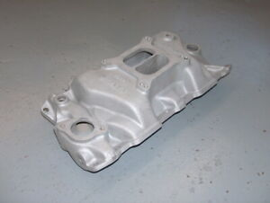 Weiand Vintage Small Block Chevy Aluminum Intake Manifold Dual Plane Racing 7502