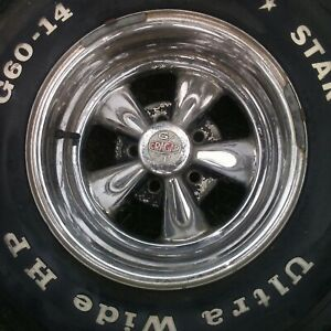 Vintage Crager G T Mag Wheels Original 1973 Mustang 7 X 14 Set Of 2 Stock Ford