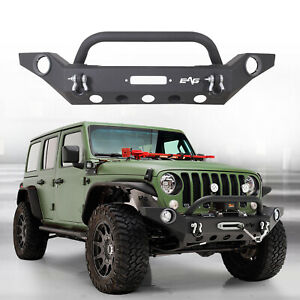 Heavy Duty Front Bumper Rock Crawler With D Ring Fit For 20 21 Jeep Gladiator Jt