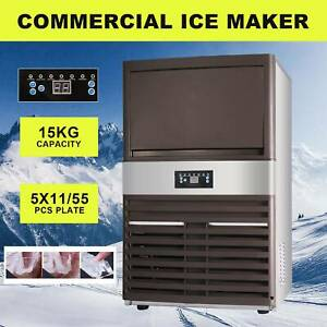 Built in Commercial Ice Maker Portable Cube Auto Machine Stainless Steel Bar Tet