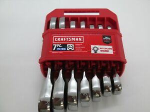 Craftsman 7 Piece Metric 12 Point Stubby Ratchet Wrench Set Cmmt87025 New