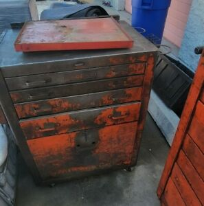 New Listingtwo Vintage Snap On Toolbox Tool Box Cabinet Chests Snap On