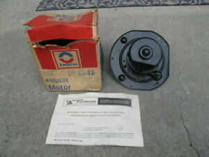 Vintage 1960s 1970s Gm Delco Nos Heater Air Conditioning Blower Motor 4960538