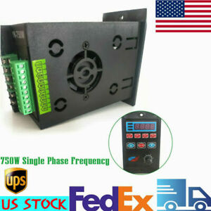 750w Single To Three Phase Variable Frequency Drive Inverter Converter 220v Usa