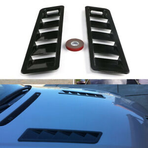 Car Hood Vent Scoop Kit Cold Air Flow Intake Louvers Cooling Bonnet Cover Black Fits 2005 Ford Mustang