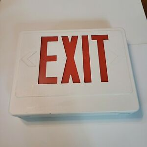 Vintage Lighted Exit Sign Prop Halloween Haunted House Used Storefront