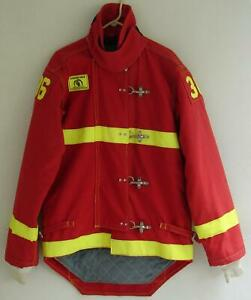 Morning Pride Firefighter Turnout Coat Bunker Gear Jacket Red Reflective Yellow