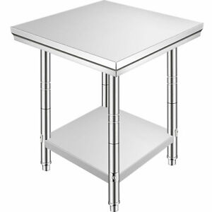 24 X 24 Stainless Steel Kitchen Work Table Commercial Kitchen Restaurant Table