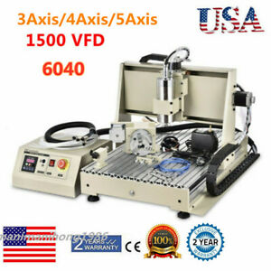 3axis 4axis 5axis 3d 6040 Cnc Router Engraving Milling Machine Metalworking Us