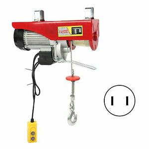 Electric Hoist Remote Winch Lift Tool Steel Cable Rope Chain Lifting 500 1000kg