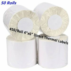 50 Rolls 4x6 Direct Thermal Address Shipping Labels 450 roll For Zebra Eltron Us