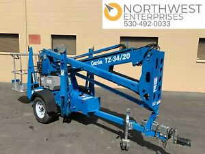2017 Genie Tz34 20 Tow Behind Articulating Electric Boom Lift