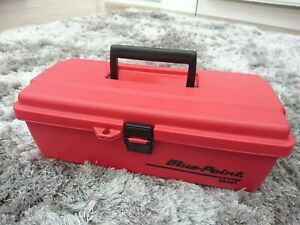 Blue Point By Snap on Plastic Tool Box Carry Case Red Ya482 Small Med Unused