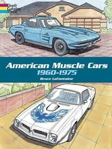 American Muscle Cars 1960 1975 Adult Coloring Book Ford Chevy Amc Mopar New