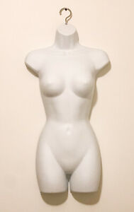 1 Pc Of Female Clothing Display Torso Hanging Mannequin White W Hollow Back
