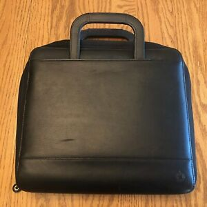 Franklin Covey Monarch Size 8 5 X 11 Leather Zip Binder With Handles