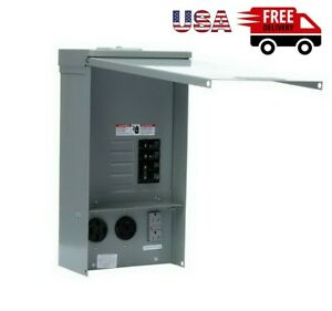 20 30 50 Amp Temporary Rv Power Outlet Electric Outdoor Receptacle Housing Box