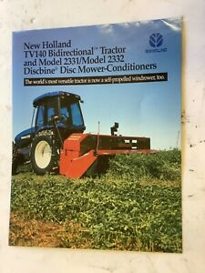 New Holland Tv140 Tractor Disc Mower 2331 2332 Literature Specifications
