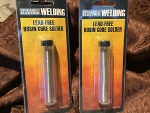 2 Rosin Core Solder lead Free Low Temp 96 Tin 4 Silver By Chicago Electric
