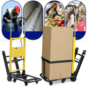 6 Wheels Stair Climbing Folding Electric Hand Truck 440lb Max Load Cart Dolly