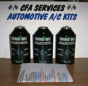 3 Cans 1995 Older Systems Compatible Refrigerant Replaces R12 Substitues 12a