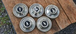 1968 Plymouth Roadrunner Satellite Dog Dish 9 Hubcaps Set Of 4 spare 68