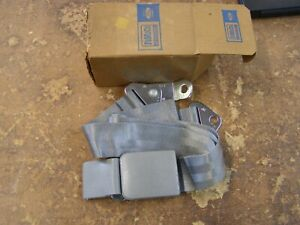 Nos Oem Ford 1966 Galaxie 500 Seat Belt Assembly Grey Interior