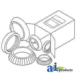 Bearing 80512725 Fits Ford New Holland 7100 7600 7610 7700 7710 7740 7840 Ts110