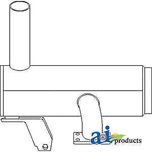Muffler 82009292 Fits Ford New Holland 5640 6640 6640o 7740