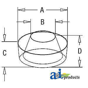 Bowl C0nn9a663a Fits Ford New Holland 515 532 540 5600 5610 5900 6000 6600 6610