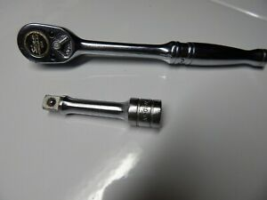 Snap On Tools 3 8 Drive Ratchet Socket Wrench F720a Usa And Extension