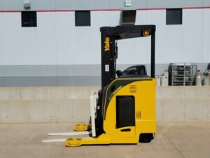 2010 Yale Nr040dans24te091 Electric Reach Truck Narrow Aisle Forklift Stand Up
