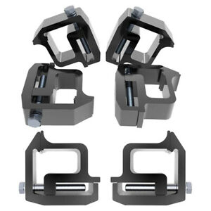 6x Mounting Clamps Truck Caps Camper Shell For Chevy Silverado Sierra 1500 2500