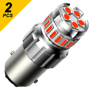 Auxito 1157 2057 Led Red Bright Brake Tail Stop Light Parking Bulbs Error Free