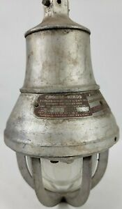 Vtg Crouse hinds Eva 101 Explosion Proof Light Fixture Industrial Steampunk