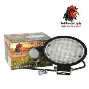 Red Rooster Led Cab Fender Handrail Work Light Flood 39w Oval