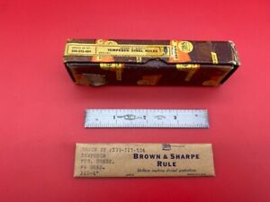 Brown And Sharpe 599 315 404 4 Rule In Stock with Box Super Rare
