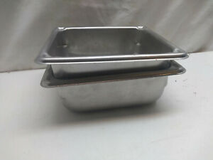 Vollrath Stainless 3062 7 Super Pan 1 6 Size 2 Steam Table Hotel Pan 2 Pcs