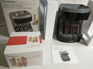 Brookstone Motorized Ultra Coin Sorter Tested Good Working