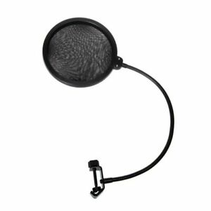 Double Layer Studio Recording Mic Wind Screen Pop Filter Mask Shield Microphone $7.99