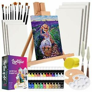 47 Piece Painting Supplies kit Complete Kits Professional Painting Art Sets $56.14