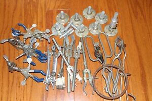 Lot Of Fisher Castaloy Other 3 Way Adjustable Test Tube Flask Clamps Holders