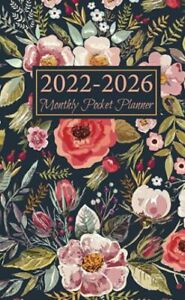 2022 2026 Monthly Pocket Planner Five Year Purse Planner And Mini Calendar An
