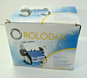 Rolodex Rotary Business Card File Indexed Tabs 2 5 8 X 4 200 Sleeved Cards New